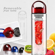 Hot sale 750ML bamboo lid promotion wholesale sing wall glass tea infuser bottle