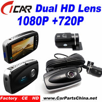 dual camera with flashlight mobile H.264 2.7' HD LCD 1080p FHD