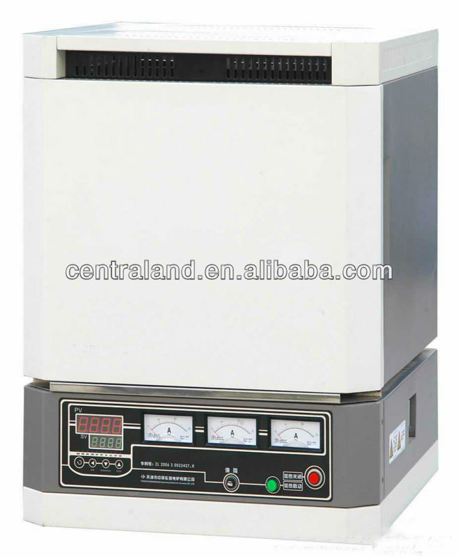 Laboratory chamber electric furnace heated by MoSi2 heater