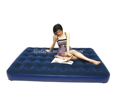 Double bed designs inflatable air bed with flocked surface
