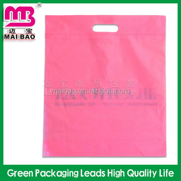 Wholesale die cut sealing & handle and PE plastic type polythene carrier bag