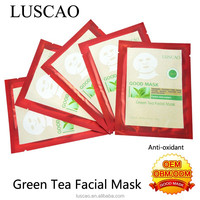 Products with luscao cosmetic green tea facial mask best whitening cream for face