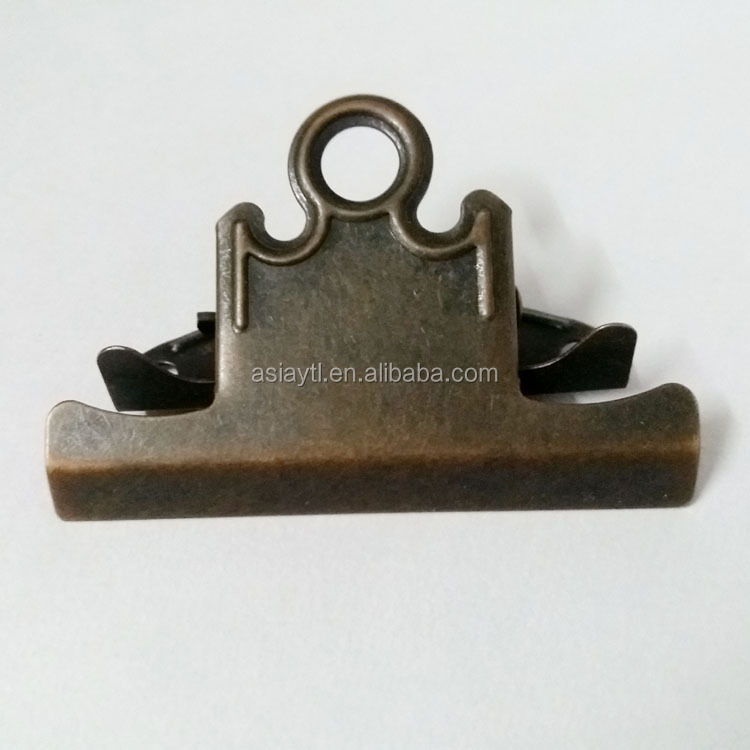 best selling dark red bronze strong metal binder clip for decorating clipboard
