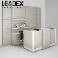 Fashionable Wood Material Office Reception Counter Table Design