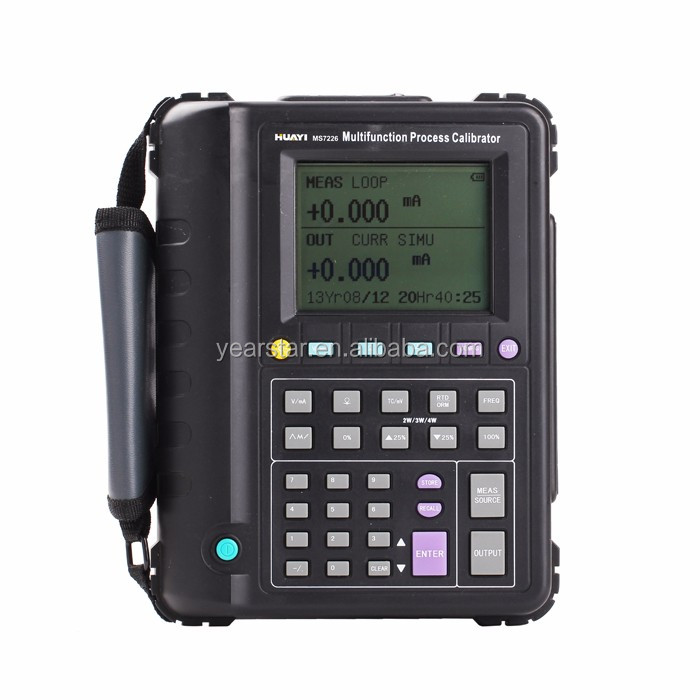 portable multifunction temperature process calibrator/4-20ma loop process calibrato r ms7226/similar to fluke726