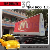 super slim 3G controled led video board, taxi roof rack used led display screen