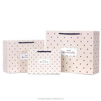 Excellent quality best-selling paper gift bag with ribbon bow tie