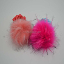 15cm fake raccoon fur ball pom women hat sex pompom for hat/ball keychain