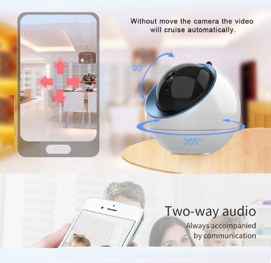 HD 720P Home Security IP Camera Two Way Audio Wireless Mini Camera 1MP Night Vision CCTV WiFi Camera
