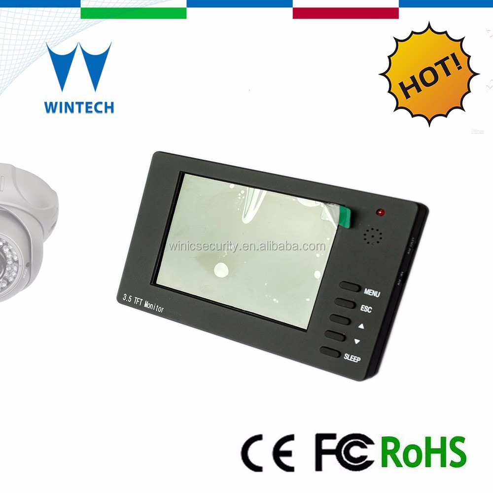LCD touch screen cctv tester,video input and output