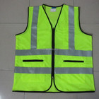 Green Mesh Safety Vest With Pockets