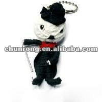 black cat handicraft fabric voodoo doll names,little dolls keychains