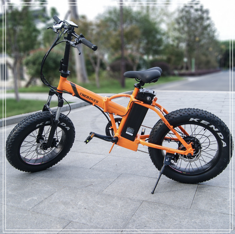 Top Quality aluminum alloy frame 20inch 48v 500w fat tyre folding electric snow bike