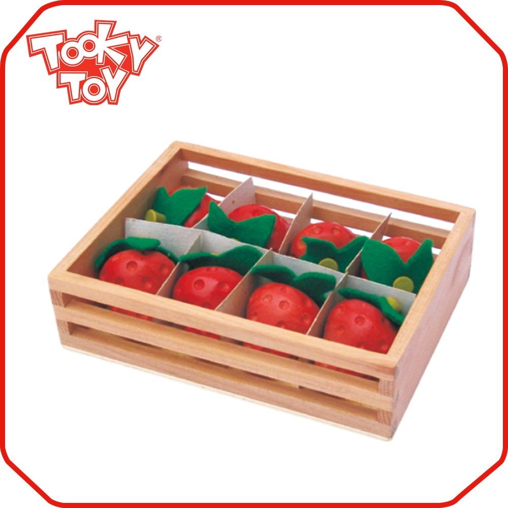 Children Wooden Strawberry Set Game Kids Toys Free Sample