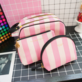 young girl toiletry bag PU leather cosmetic bag makeup