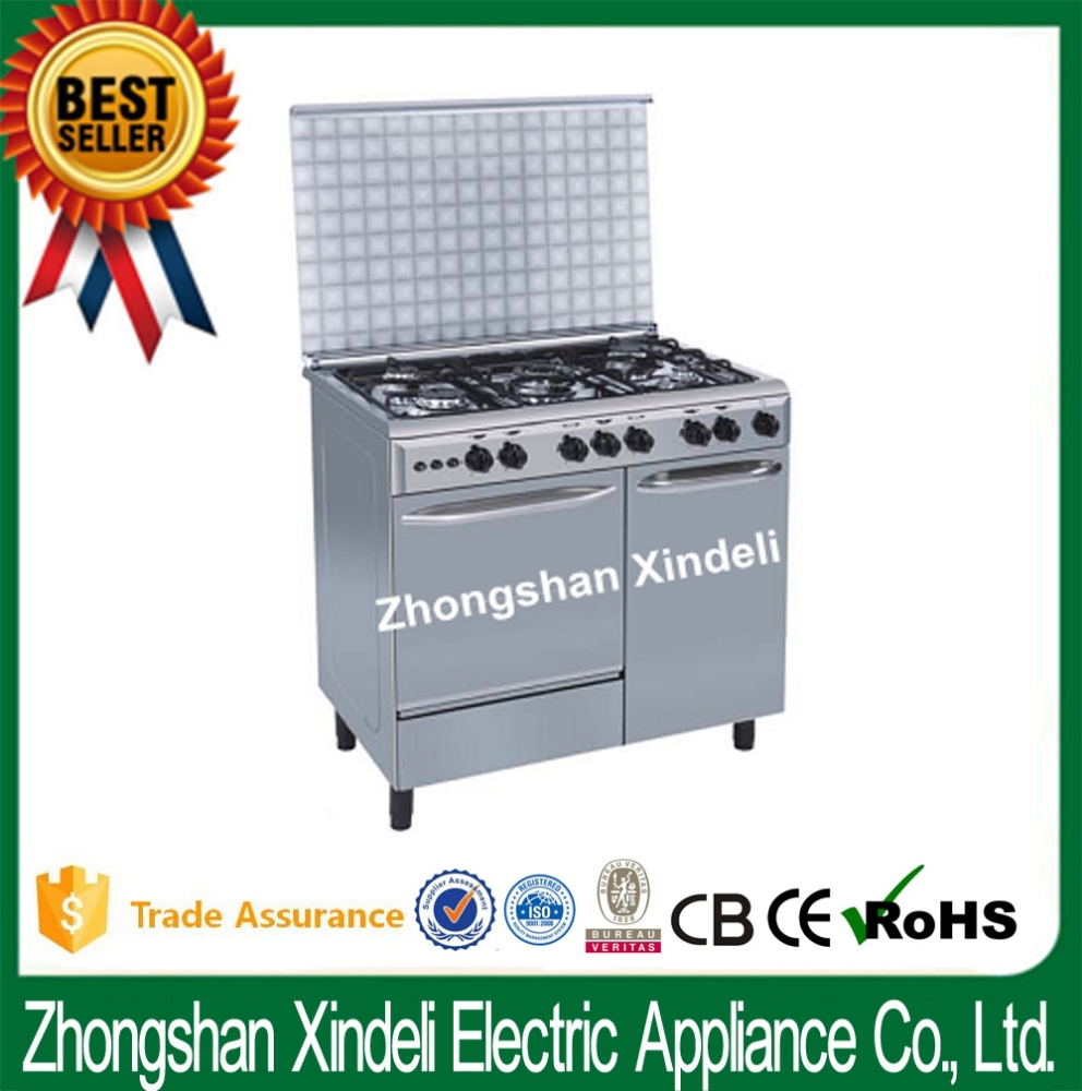 "36"" 36 inch kitchen appliance gas cooking range with gas bottle in Syria, gas cooker with oven, 900x600mm Two key"