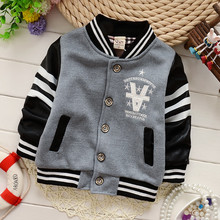 2015 winter baby boy thick woolen coat with leather sleeve