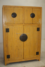 chinese antique solid wood distressed kitchen cabinet
