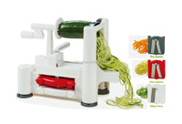 manual food deluxe spiral cutter fruit and vegetable spiral slicer chopper