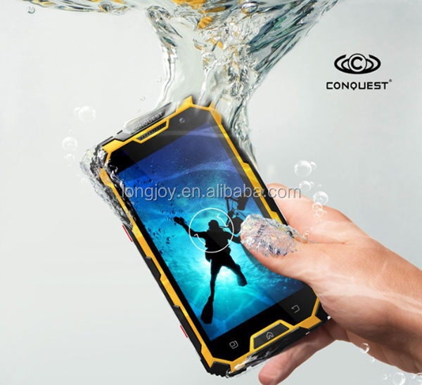 Original Conquest S8 IP68 Waterproof Rugged Android 4.4 Phone with NFC Walkie Talkie Function