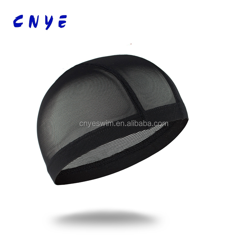 Promotional Logo Adult Mesh Polyester Swimming Caps