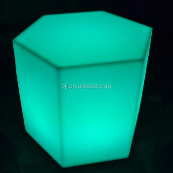 Plastic Bar Furniture Led Colorful Light Up Cube Chair Lighted Illuminated  Cube Bar Chair