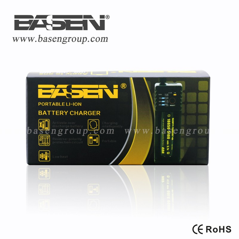 18650 single charger Basen lithium battery charger BS1 single charger
