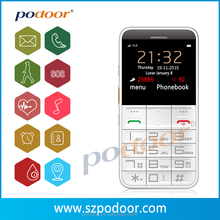 2016 sos button elderly cell phone with Android IOS APP with GPS/SOS/ pulse rate and Oxygen monitoring for the old people.