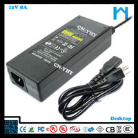 make 12v dc power supply universal ac power supply 96w ul approved ac adapter 8A