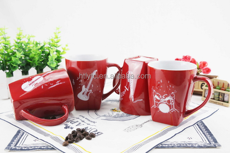 High tensile Discount beautiful design ceramic mug