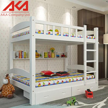 Modern solid wood safety standard kids bunk beds