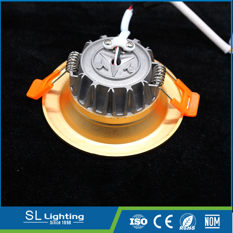 5w warm white decorative led ceiling mounted aluminum downlight