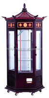 Wooden vertical Glass Door Cake Display Refrigerated Showcase bakery cake showcase refrigerator