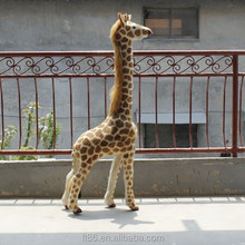 Outdoor ornaments imitation fur plastic mold giant giraffe plush