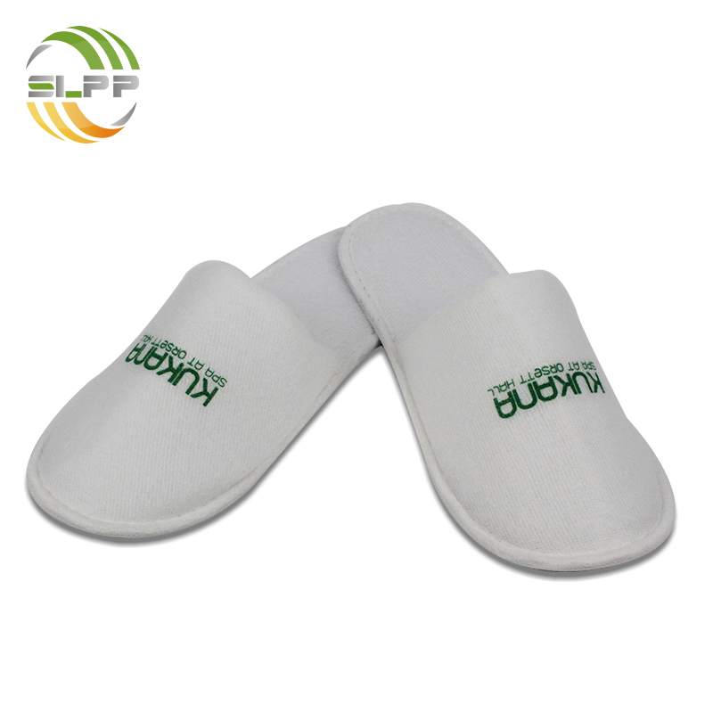 China factory white plush summer slipper