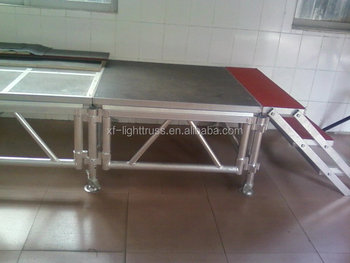 Customed multipurpose stage with aluminum light truss