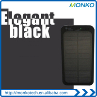 New Solar Sun Power Bank Black Solar Power Charger Powerbank For Smartphoone