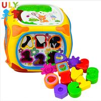 Wholesale educational toys electric light music rotating projection plastic toy drum