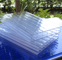 Multi Wall Polycarbonate Hollow Sheet Price PC Roof Panels Greenhouse Plastic Construction Material