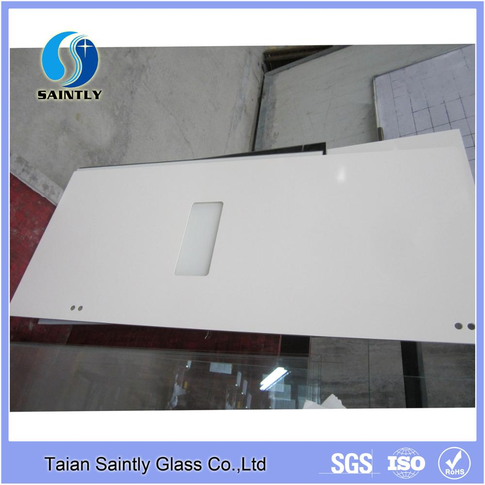 Best selling 3mm 4mm tempered glass for refrigerator with white paint