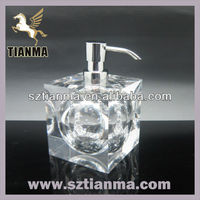 Clear acrylic ball shaped hand pumps liquid soap dispenser for spa