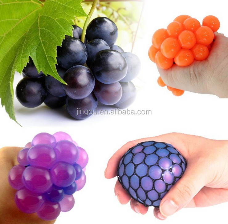 5CM Grape Shape Mesh Squishy Squeeze Toy Ball