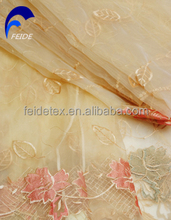 EMBROIDERY ORGANZA CURTAIN FABRIC