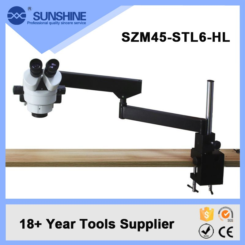 SUNSHINE 3.7-45 Times Binocular Boom Stand Stereo Zoom Microscope For Sale