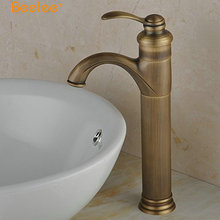 Beelee BL0405AH Single Handle Antique Brass Copper Basin Faucet Tap