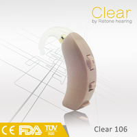 CE&FDA Popular BTE Analogue Hearing Aid, low cost sound amplifier, telecoil PSAP