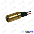 MN650-05FC 650nm 3mW 3-5VDC Red Dot Brass Mini Laser Diode Module, Beam Size 8*16mm at 20m