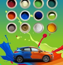 Spray application method water based car 2k top color paint