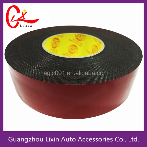 1mm thickness one inch red liner film black foam tape