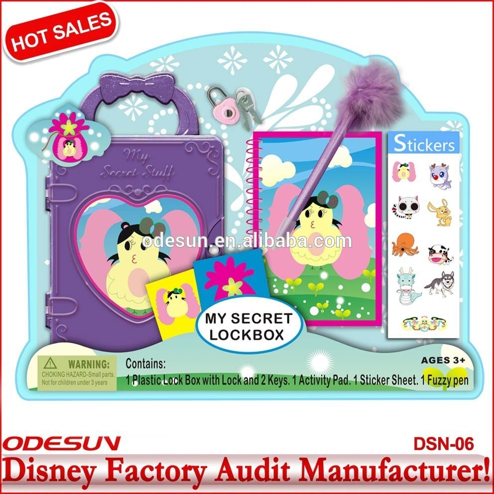 Disney Universal BSCI Carrefour Factory Audit Kungfu Panada Frozen Puzzle Stationery Set With Lock Box Key 06